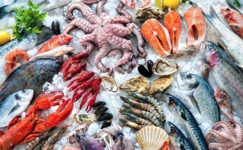 La sección de Productos del Mar en Eroski